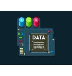 Big data technology concept vector image
