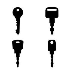black keys silhouettes vector image