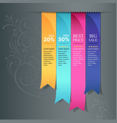 colorful ribbon promotional products vector image vector image