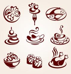 food elements set vector image vector image