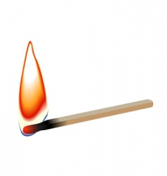 match stick flame vector image vector image