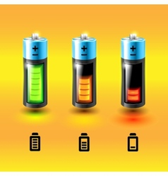 Set of batteries Charge conditions vector image