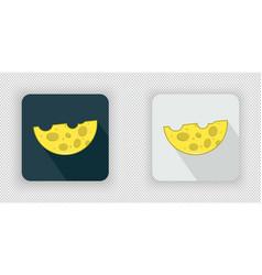 yellow semicircular cheese icon vector image vector image