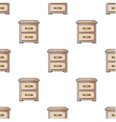 bedside table icon in cartoon style isolated on vector image