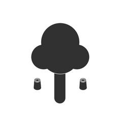 Black icon on white background chimney-stalk vector
