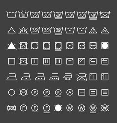 Laundry symbols collection vector