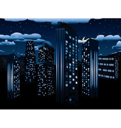 Night Cityscape Background2 vector image