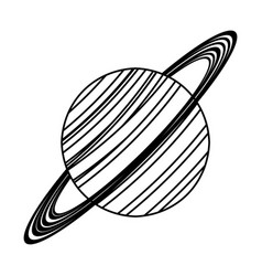 saturn planet astronomy image line vector image