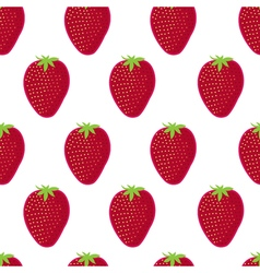 Strawberry seamless pattern Strawberry on white vector image vector image