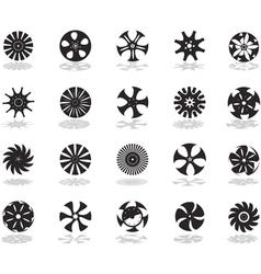 alloy wheel black vector image vector image