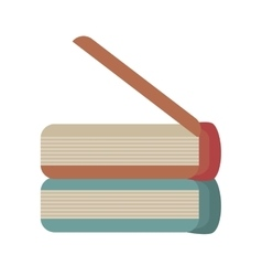 cartoon books library learn school vector image