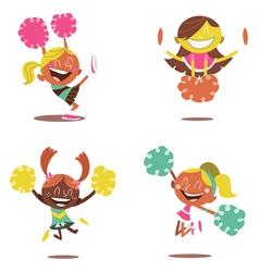 Cheerleader Girls vector image