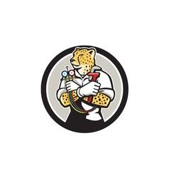 Cheetah Heating Specialist Circle Cartoon vector image vector image