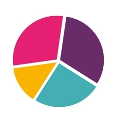 colorful silhouette with pie chart vector image