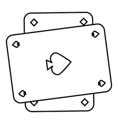 Playing card icon outline style vector