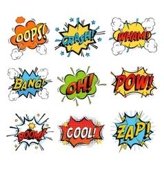 Set of bubble or bubbles speech vector image vector image