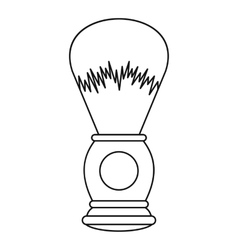 Shaving brush icon outline style vector image vector image