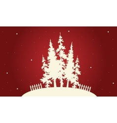 Silhouette of christmas spruce vector