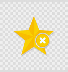 star icon delete icon vector image