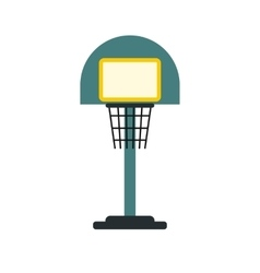 Basketball goal on a playground icon vector image