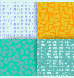 set of 4 seamless pattern hand drawn textures vector image