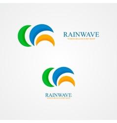 Set of abstract semicircle logo vector image