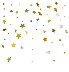 3d gold stars isolated on white background vector image