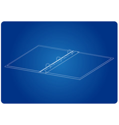 3d model of notebook on a blue vector image