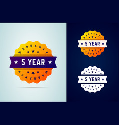 5 years warrany stickers vector image