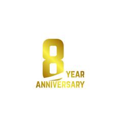 8 year anniversary logo template design vector