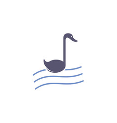 Abstract swan music note logo icon vector