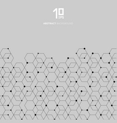 Abstract technology black hexagons pattern and vector