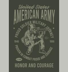 American army vector