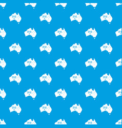 australia pattern seamless blue vector image