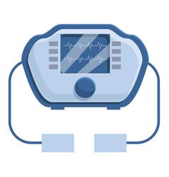 Automated defibrillator icon cartoon style vector