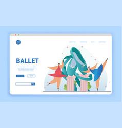 Ballet concept with dancing ballerinas vector