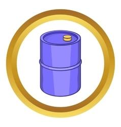 Barrel for gasoline icon vector