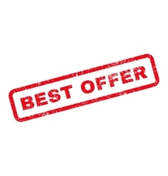 Best Offer Text Rubber Stamp vector image