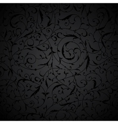 Black Seamless floral Pattern vector
