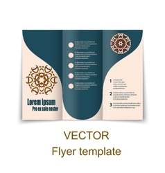 brochure or magazine cover template vector image