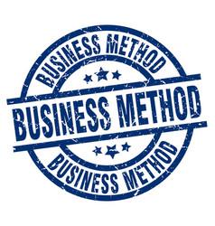Business method blue round grunge stamp vector