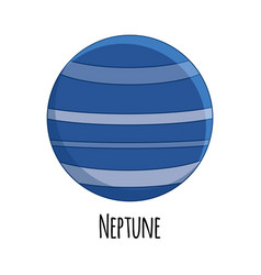 cartoon neptune planet vector image