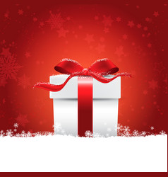 Christmas gift in snow vector