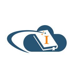 Cloud ebook solutions initial i vector