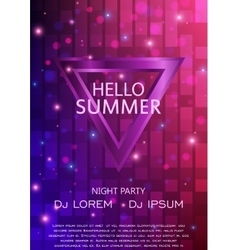 Club Party Flyer Hello Summer Party Flyer A4 vector
