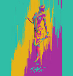 colorful paper cut dancing girl figure vector image