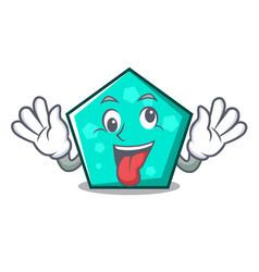 Crazy pentagon mascot cartoon style vector