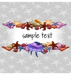 Creatures of sea clams on a background with star vector image