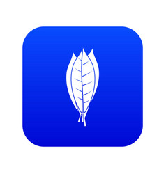 culinary bay leaves icon digital blue vector image
