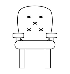 Cushioned armchair icon vector